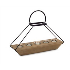 Open Pyramid 5-Votive Candle Runner