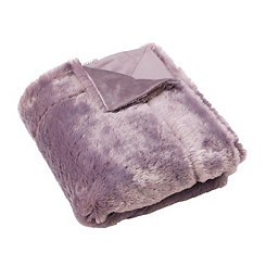 Purple Nirvana Savannah Faux Fur Throw Blanket