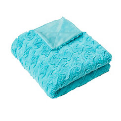 Aquarelle Sally Waves Faux Fur Throw Blanket