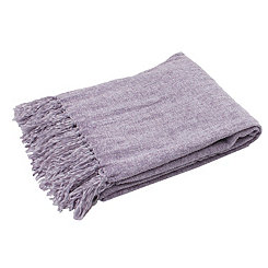 Nirvana Cece Fringed Chenille Throw Blanket