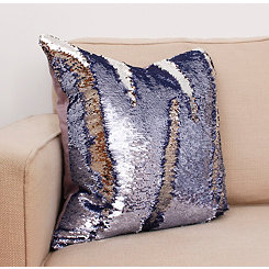 Nirvana and Silver Melody Mermaid Sequin Pillow