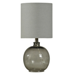 Smoke Spanish Glass Ball Mini Table Lamp