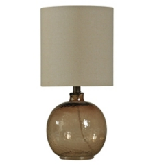 Amber Spanish Glass Ball Mini Table Lamp
