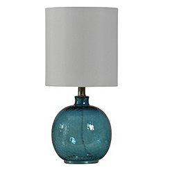 Cerulean Spanish Glass Ball Mini Table Lamp