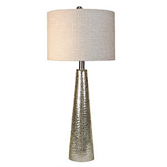 Silver Mercury Glass Cone Table Lamp