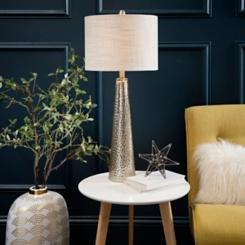 Silver Mercury Glass Cone Table Lamp