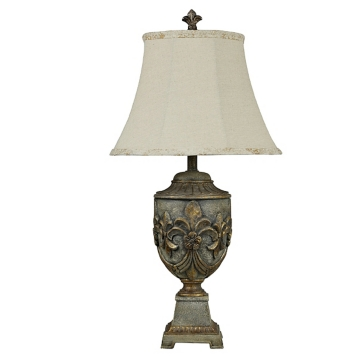 Versailles fleur de lis table lamp kirklands mozeypictures Gallery