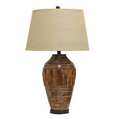 Water Hyacinth Bamboo Table Lamp