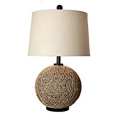 Rattan Ball Table Lamp
