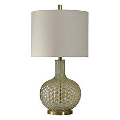 Gold Bubble Glass Table Lamp