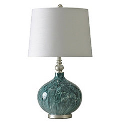 Faux Marble Glass Table Lamp