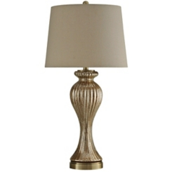 Glimmer Bronze Glass Table Lamp