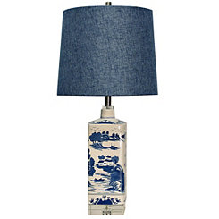Ming Blue Ceramic Table Lamp