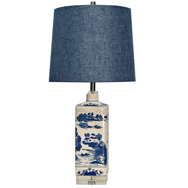 ... Ming Blue Ceramic Table Lamp ...