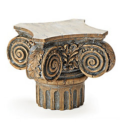 Brown Pillar Decorative Pedestal