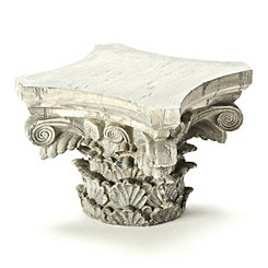 Silver Pillar Decorative Pedestal
