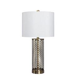 Antique Openwork Metal Table Lamp