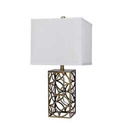 Diamond Openwork Metal Table Lamp