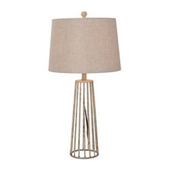 Distressed Silver Table Lamp