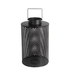 Black Cage Iron Lantern, 18.5 in.