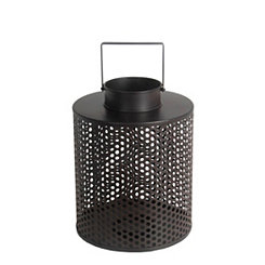 Black Cage Iron Lantern, 15 in.