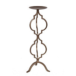 Bronze Cutout Quatrefoil Candle Holder, 18 in.