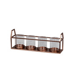 Copper Cutout 4-Candle Runner