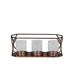 Copper Cutout 3-Candle Runner