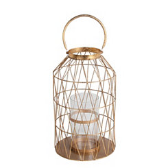 Gold Cutout Triangle Lantern, 20.5 in.