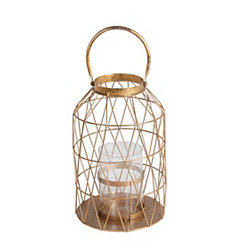 Gold Cutout Triangle Lantern, 17 in.
