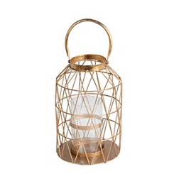 Gold Cutout Triangle Lantern, 15 in.