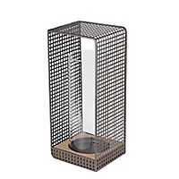 Large Wood and Iron Grid Lantern