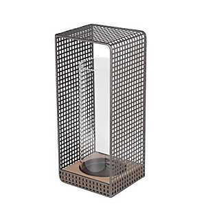 Large Wood and Iron Grid Lantern