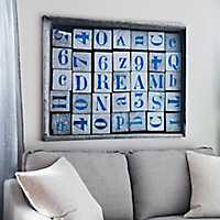 Wood Letters Dream Canvas Art Print
