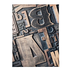 Wooden Type Blocks Canvas Art Print