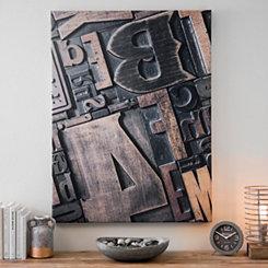 Wooden Type Blocks Canvas Art Print