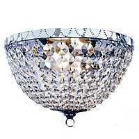 Victoria Crystal Flush Mount Ceiling Light