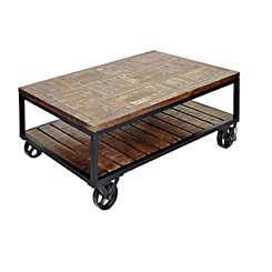 Industrial Trolley Wheel Coffee Table