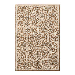 Natural Tufted Medallion Scatter Rug