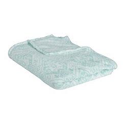 Blue Damask Plush Blanket
