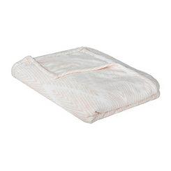 Pink Chevron Plush Blanket