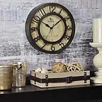 Brown Raised Numeral Wall Clock