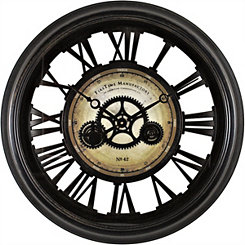 Gear Works Wall Clock