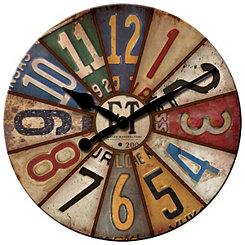 Vintage Plates Wall Clock