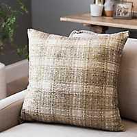 Maxi Gold Plaid Pillow