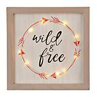 Wild And Free Pre-Lit Plaque