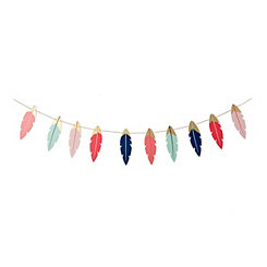 Feather Wood Cutout Banner