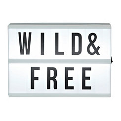 Wild And Free Pre-Lit Marquee