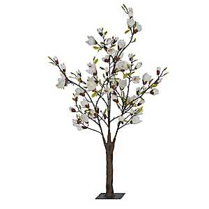 White Faux Japanese Magnolia Tree, 4.5 ft.