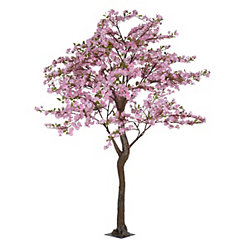Pink Faux Apple Blossom Tree, 7 ft.